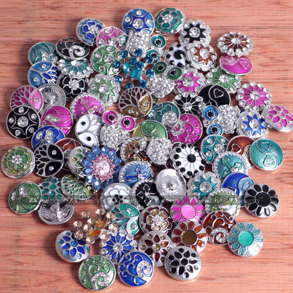 best selling New Fashion Crystal Diamond Snaps NOOSA Jewelry Accessories 18mm interchangeable jewelry Inlaid For DIY Button Components