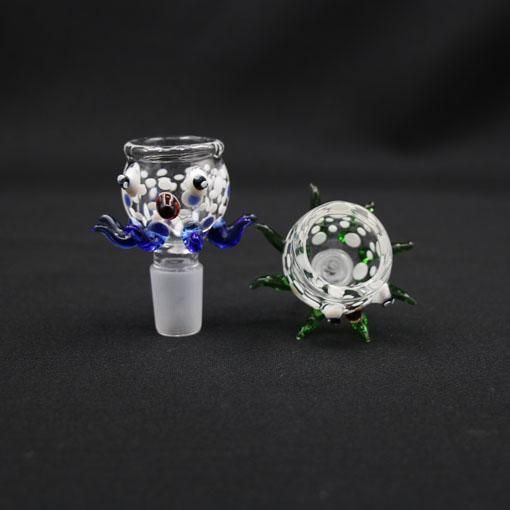 New Arrvie High Quality Big Bowls octopus Model 18mm In Color Blue Green For Glass bong bongs water pipes bubbler water bong