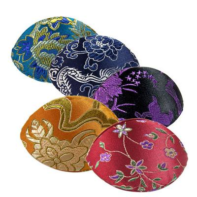 best selling Unique Handmade Ring Gift Box Small Jewelry Coin Storage Case Chinese Silk Brocade Fabric Craft Cardboard Floral Packaging 10pcs  lot