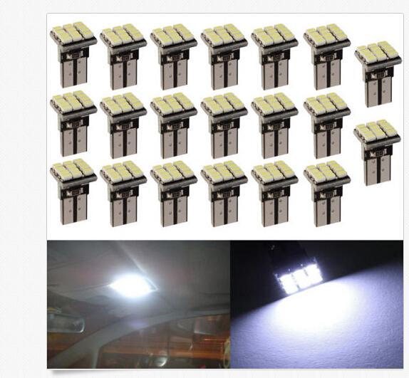 100 PCS T10 1206 12SMD LED Car Auto Wedge Turn Signal Lâmpada Lâmpada Branca DC12V atacado