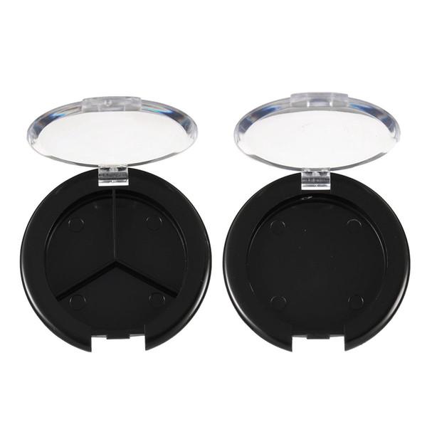 Оптово-5шт. / Компл. Пластиковая пустая палитра для теней для век Одиночный футляр для круглых баночек Косметика для макияжа Компактный контейнер DIY Инструмент для макияжа