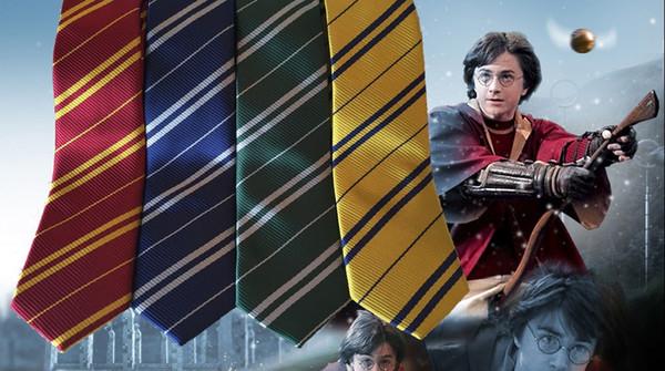 top popular Harry Potter tie hogwarts gryffindor slytherin ravenclaw hufflepuff fancy tie 2019