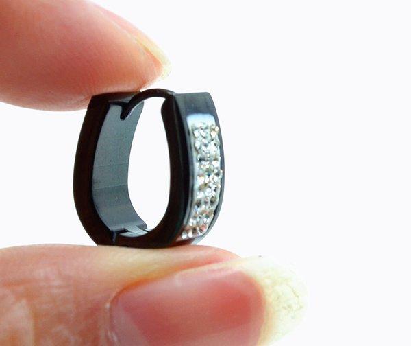 50pcs Free Shippment Body Jewelry- Gems 16g~1.2mm Screw Stainless Steel Hoop Men/Women Earring Ear Studs Piercing Jewelry
