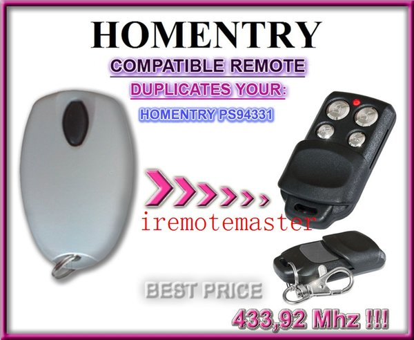 The Garage Door Remote For HOMENTRY PS94331 Replacement Remote Control