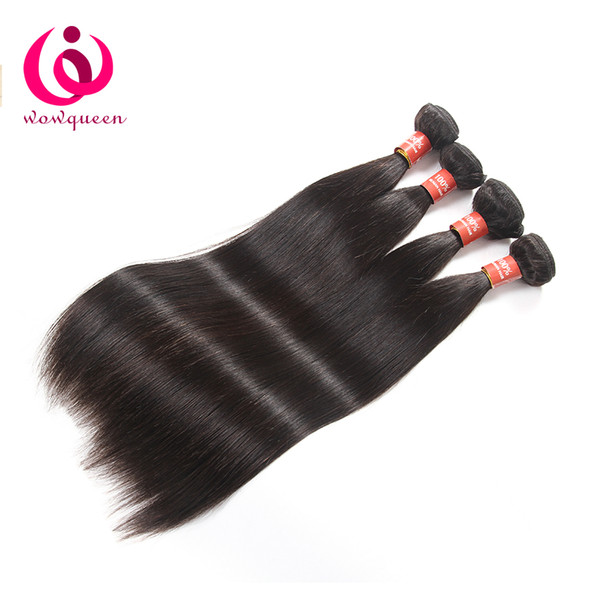 Brazilian Straight Human Hair Weave Bundles 9A Peruvian Malaysian Indian Virgin Hair Extensions Cheap Bulk Human Hair Weave
