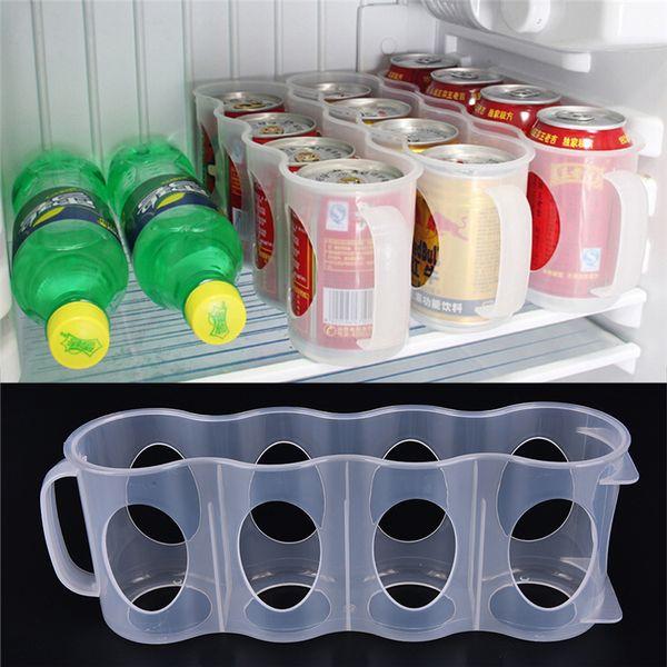 Smart Design Refrigerator Storage Box Kitchen Accessories Fridge Beverage Can Space-saving Cans Finishing Refrigerator Organizer