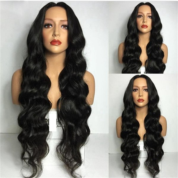 Unprocessed Natural Color Human Hair Deep Wave Full Lace Wigs Brazilian Hair wig 8-26 inch In Stock