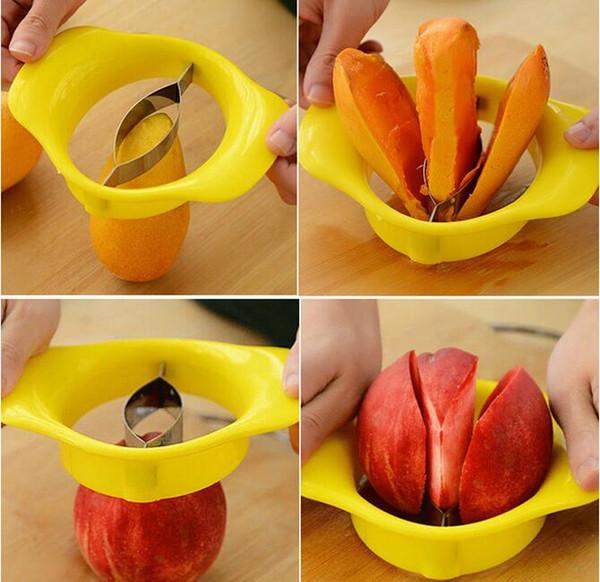 Mango Pitter Stoner Corer Cutter Fruit Chopper Splitter Slicer Home Kitchen Tool