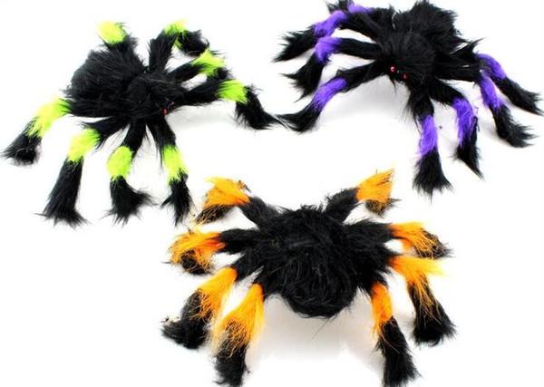 Festa de Brinquedo criativo decoração Dia da Mentira Dia Das Bruxas Assombrado suprimentos adereços layout simulação animal flocking aranha 30 cm