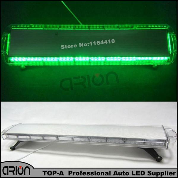 Hot 1200MM 88W 88 LED Car Truck emergency vehicle strobe lights Roof Hazard Warning LightBar Flashing Beacon Lamp GREEN 12V/24V