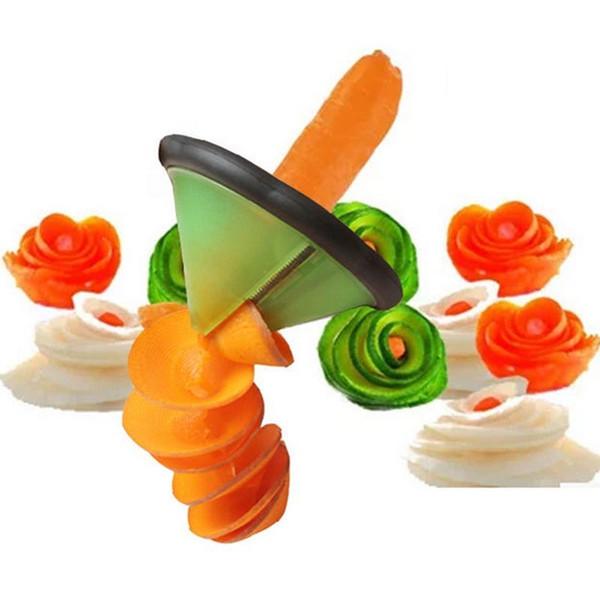 Creativo Spirale Affettatrice di verdure Utensili da cucina Accessori da cucina / Utensili per intaglio di verdure e frutta Gadget da cucina Rotolo di fiori