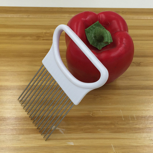 Fixed spot slicer onion onion pine needle inserted stainless steel meat tender meat for kitchen creative tools