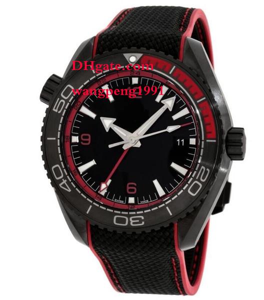Homens Relógio de Alta Qualidade 46mm 215.92.46.22.01.003 Preto / moldura vermelha, mostrador preto Cinto pulseira Automática Mens Watch Watche