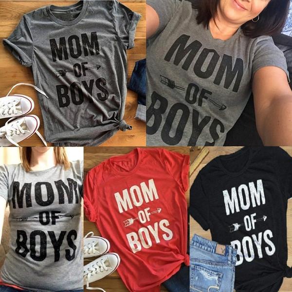 best selling New T Shirt Women Tops mom of boys Letter Print Tee Shirt Femme T-shirt Casual tshirt O-neck Short Sleeve T-shirt Women S-XXXL