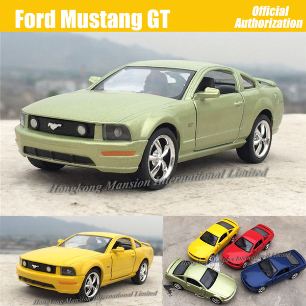 1:36 Scale Diecast Alloy Metal Sports Car Model For Ford Mustang GT Collection Model Pull Back Toys Car