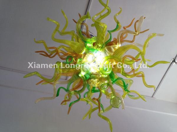 wholesale hand blown glass small chandelier light livingroom foyer decor glass chandelier lamps art deco modern crystal chandelier