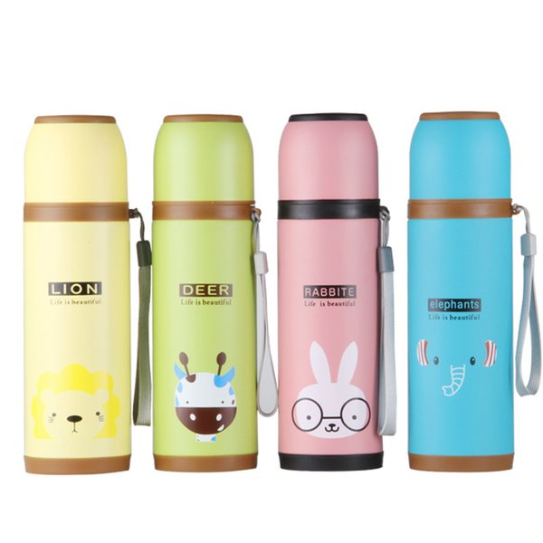 bad8a7a7be7 Wholesale- Hot Sale Vacuum Flasks Termo Bottle Thermos Mug Double Wall Cup  Stainless Steel Thermal 350 500ml Lovely Cartoon Drinkware Gift