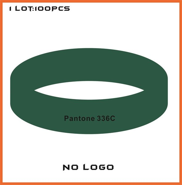 100PCS/Lot High quality Customized Color rubber silicone bracelets for promotional gifts B422