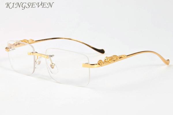 2017 moda vintage occhiali da sole senza montatura donne corno di bufalo di alta qualità donne occhiali da sole senza montatura signore rosa occhiali trasparenti femminile