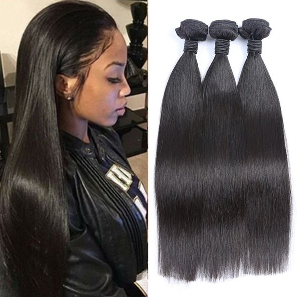 Unprocessed Vietnamese Human Hair Weaves 3 Bundles Straight Virgin Hair Wefts 8-30 inch Free Shipping FDSHINE HAIR