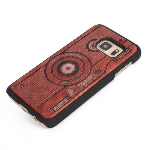 U&I ® Engraving wooden cell phone case for Samsung S7 S7 edge Covered PC Bumper Phone Case