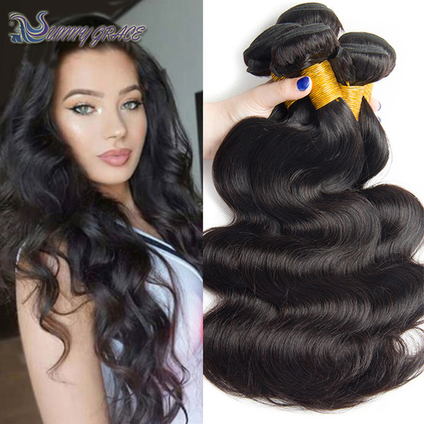 cheap 3 pieces per lot loose wave Indian Virgin human hair weave from sunny grace hair product