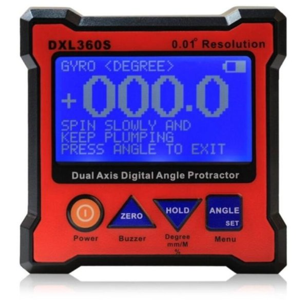 top popular Freeshipping Professional Protractor Digital Inclinometer Dual Axis Level Measure Box Angle ruler 0.01 Resolution Rechargeable 2021