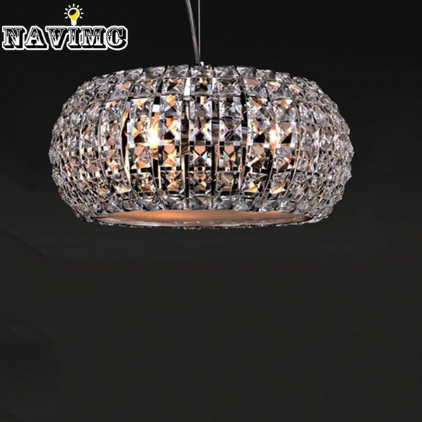 Modern Crystal led Pendant Light with Adjustable Cord for Kitchen Island Dining Room Coffee House Pendant Lamp Crystal Shade