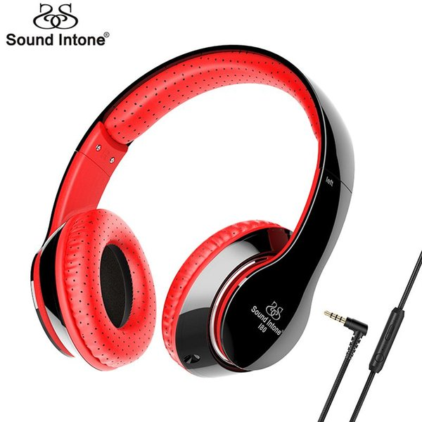 Sound Intone I80 Over Ear Headphone Wired 3.5mm Detachable Cable Headsets Earphone with Microphone Volume Control For Cell Phone