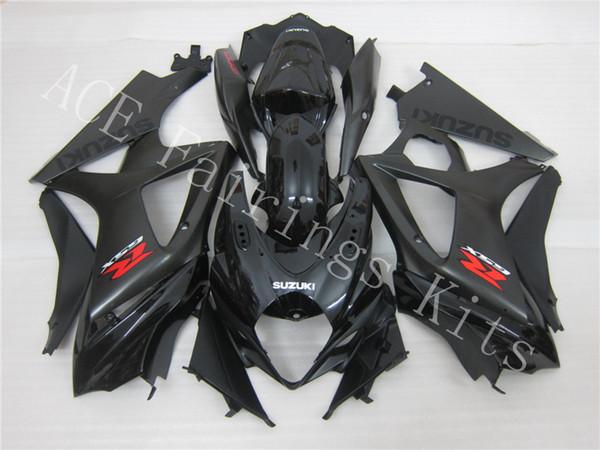 Tres hermoso regalo gratis y nuevas placas de carenado ABS de alta calidad para SUZUKI GSXR1000-K7 2007-2008 Very gentleman black