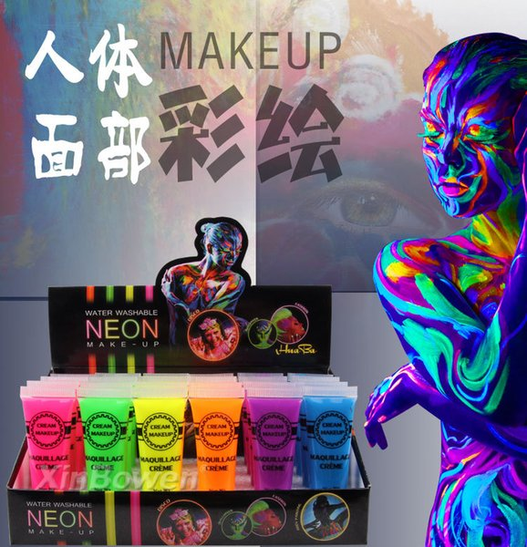Factory direct high-quality does not hurt the skin color hose decorated cream cream makeup face color Halloween green body painting cosplay