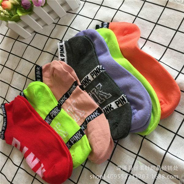 Rosa Brief Socken Männer Frauen Sport Socken Fußball Cheerleader Strümpfe Kurze Sportstrumpf Ankle LOVE Rosa Skateboard Socke gemischt 3005003