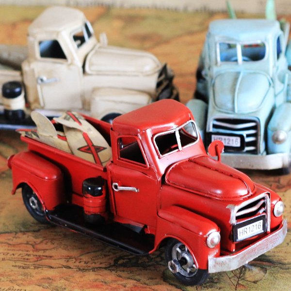 Zakka Home Decoration Accessories Vintage Car Memory Of Childhood Nostalgia  Iron Shabby Chic Bar Decoration 1