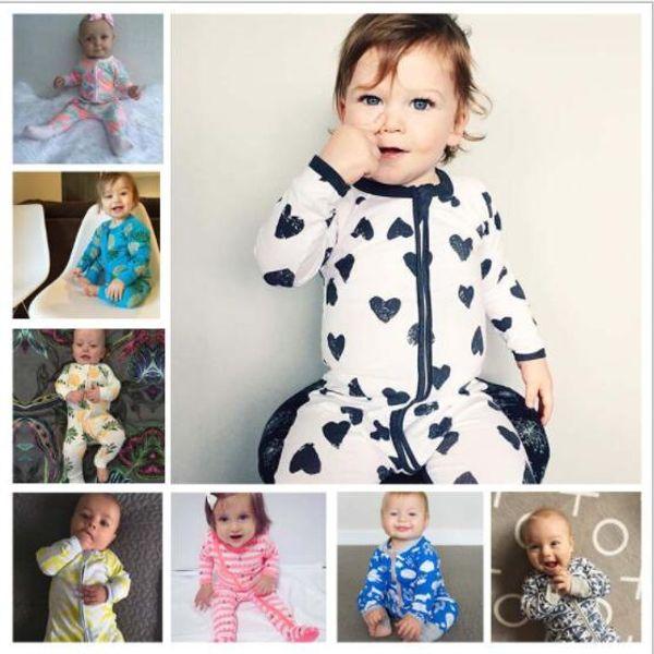 INS baby Newborn Infant Pineapple Cotton Long Sleeve Baby Romper Jumpsuit Bodysuits Sleepsuit Children Clothing XT