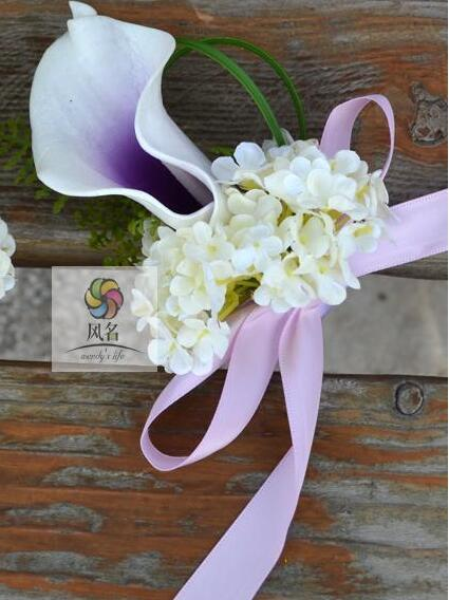 purple wrist flowers