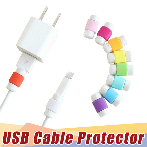 best selling Universal Saver USB Cable Protector Sleeve Android Mobile Phone Charger Cord Protector Cover Silicone For IPhone X 7 8 6 plus Line Protectiv