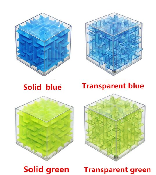 Wholesale- Cool!! Maze Magic Cube Puzzle 3D Mini Speed Cube Labyrinth Rolling Ball Toys Puzzle Game Cubos Magicos Learning Toys For Chilr