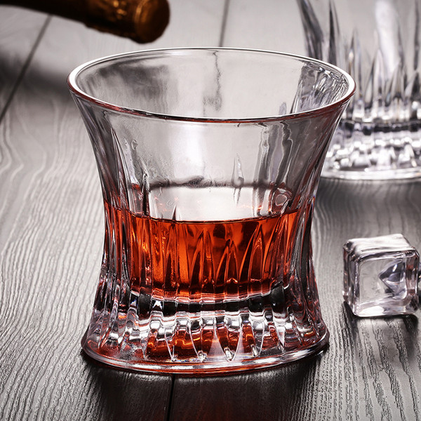 Wholesale Promotional Machine Made Fashional Style CheapThick Bottom 170ml Whiskey Glass Cup Good Decoration Idea For Gift