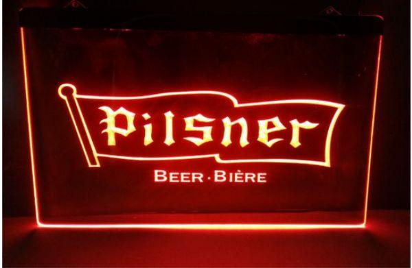 best selling pisner beer NEW carving signs Bar LED Neon Sign home decor crafts