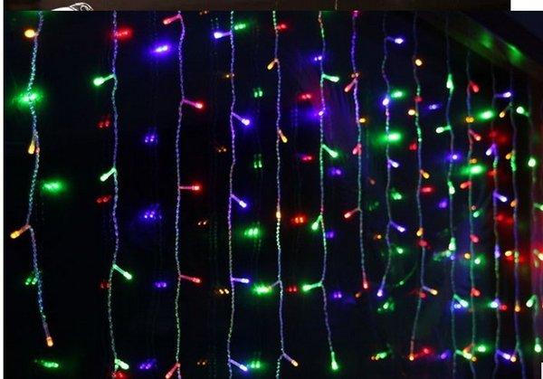 10x0.65 м LED Рождество свадьба Фея струнные огни Светодиодные занавес свет сад открытый украшения 110 В 220 В ЕС США Plug