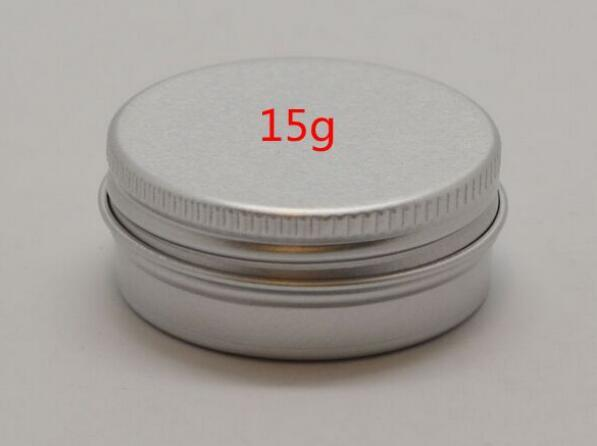 best selling Factory Price 1000pcs lot 15ml Aluminum Lip Gloss Container 15g Lipstick Box Metal Jar Lip balm Cosmetic Packaging storage box