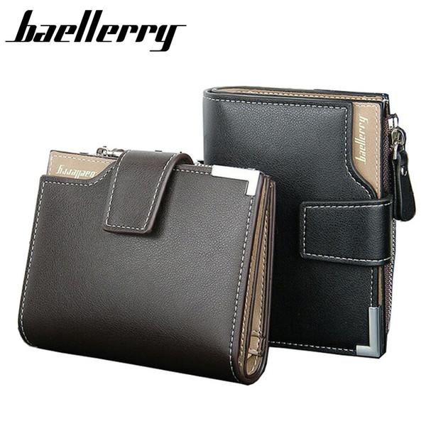 f906327c125c Wholesale- Wallet men genuine leather men wallets purse short male clutch  leather wallet mens Baellerry