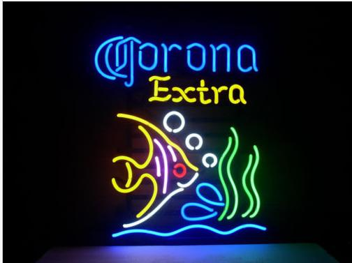Fashion Handcraft CORONA EXTRA TROPICAL FISH MEXICOReal Glass Tubes Beer Bar Pub Display neon sign 19x15!!!Best Offer!