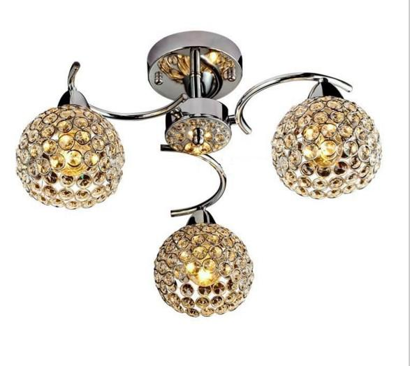 Modern/Contemporary Electroplated Feature for Crystal Metal Bedroom / Dining Room / Hallway ceiling lamp LLFA