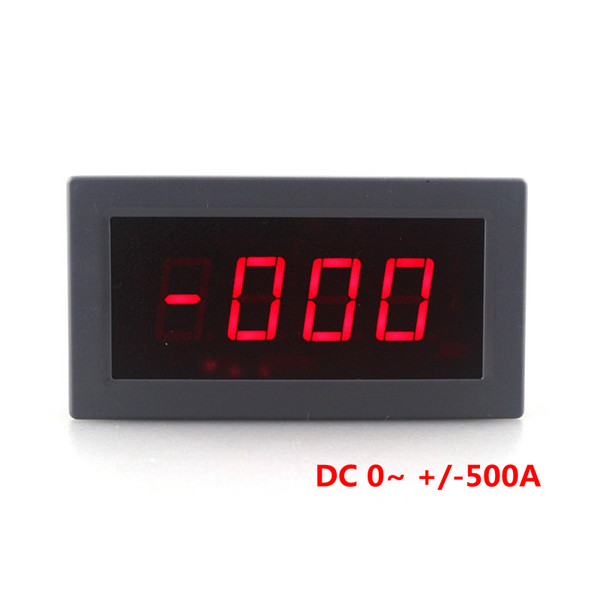 High Accuracy Digital Ammeter DC -500A to +500A Amp Tester Positive and Negative Current Panel Meter 5V Red LED Display Free Shipping