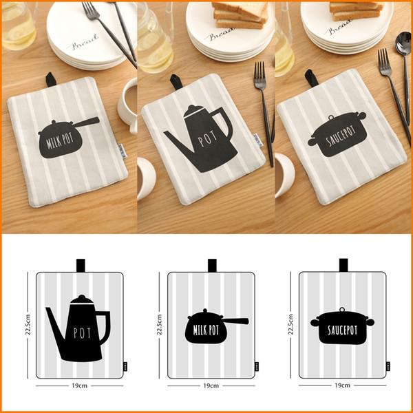 Kitchen Table Mats, Creative Placemat Eat Mat Bowl Dish Gasket, Cotton Fabric Insulation Pad, Creative Home Decor
