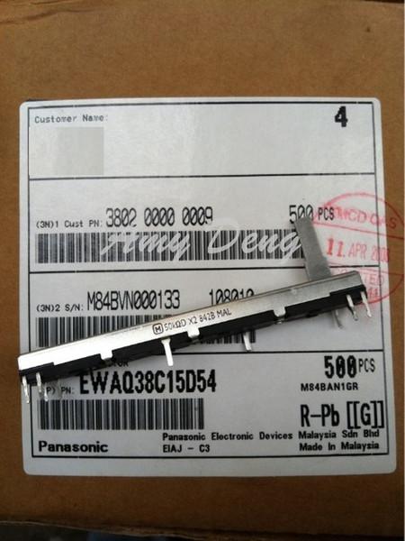 Wholesale- 10pcs/lot Free shipping Japan's 7.5 cm long axis 50KD*2 double sliding potenometer 15MM mixer fader potenometer
