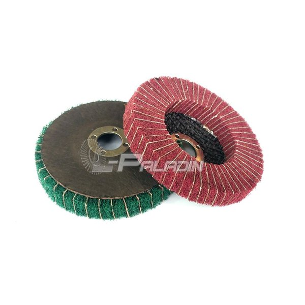 10 pieces 100*16mm Non-woven Combi Abrasive Polishing Disc Angle Grinder Tools Metal Finish