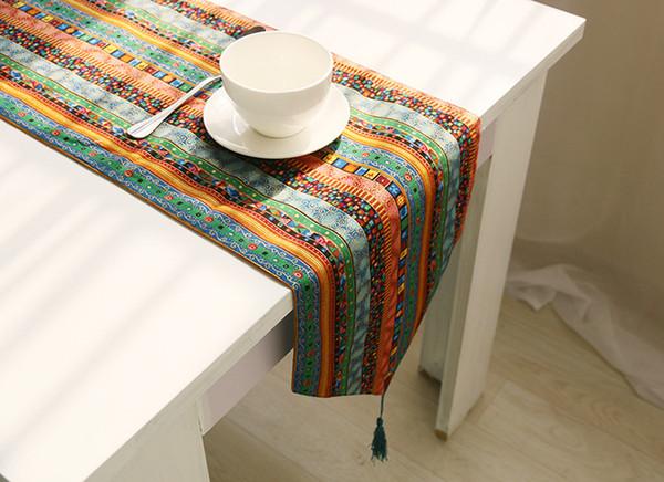 großhandel exotische folk bunte gestreifte tischläufer stühle, Esstisch ideennn
