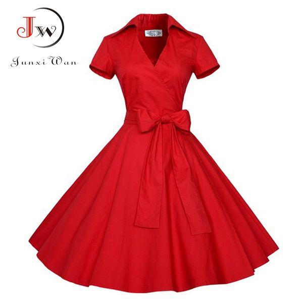 2017 Audrey Hepburn Summer Dress Women Polka Dot Vintage